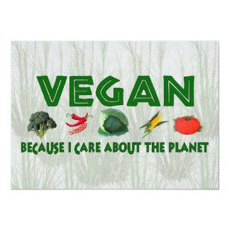 """Veganos para el planeta invitación 5"""" x 7"""""""