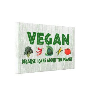 Veganos para el planeta impresion en lona
