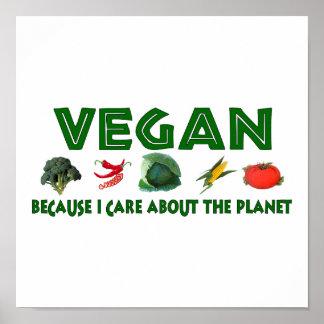 Veganos para el planeta póster