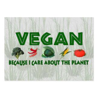 Veganos para el planeta tarjetas de visita grandes