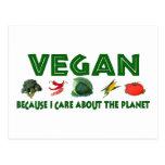 Veganos para el planeta tarjetas postales