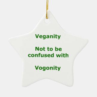 Veganos y Vogons Adorno De Cerámica En Forma De Estrella