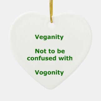Veganos y Vogons Adorno De Cerámica En Forma De Corazón