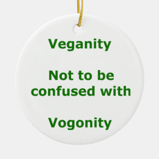 Veganos y Vogons Adorno Redondo De Cerámica