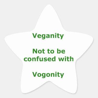 Veganos y Vogons Pegatina En Forma De Estrella