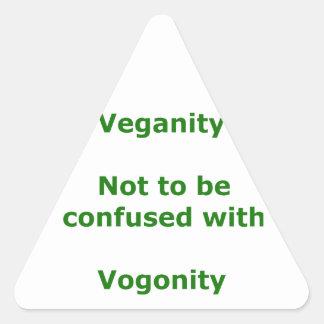 Veganos y Vogons Pegatina Triangular