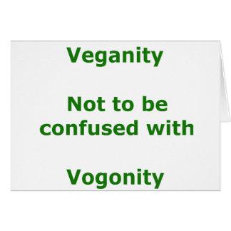 Veganos y Vogons Tarjeta De Felicitación