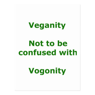 Veganos y Vogons Tarjeta Postal