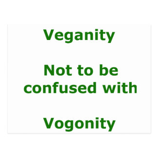 Veganos y Vogons Tarjetas Postales