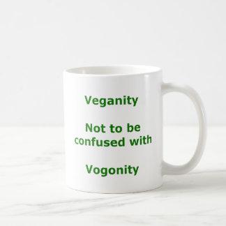 Veganos y Vogons Taza Básica Blanca