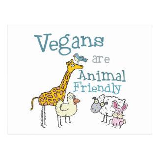 Vegans are Animal Friendly Postcards
