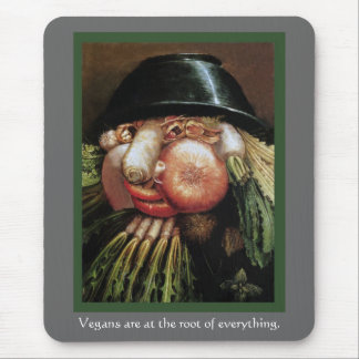 Vegans are at the root of everything. mouse pad