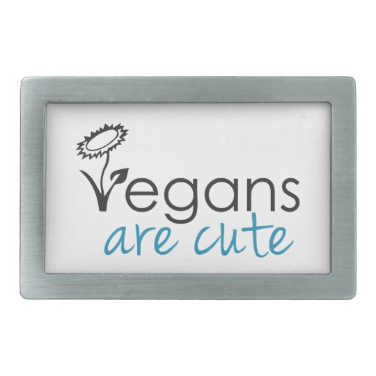 Vegans are Cute - An Advocates Custom Design Belt Buckle