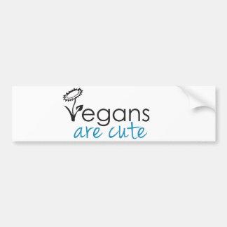 Vegans are Cute - An Advocates Custom Design Bumper Sticker