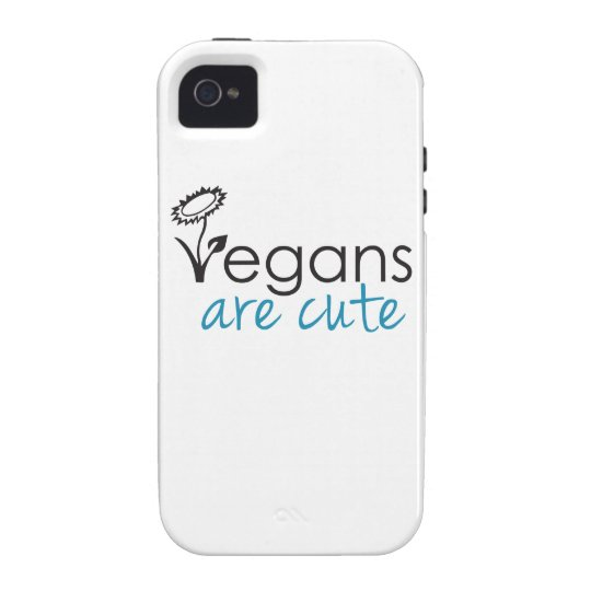 Vegans are Cute - An Advocates Custom Design Case For The iPhone 4