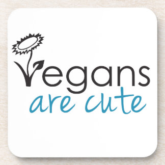 Vegans are Cute - An Advocates Custom Design Coaster