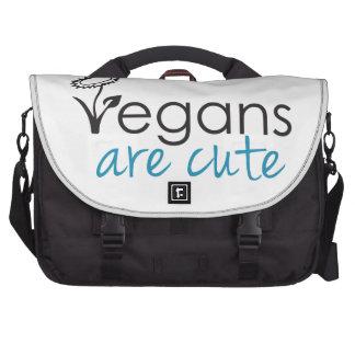 Vegans are Cute - An Advocates Custom Design Laptop Commuter Bag