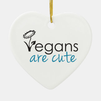 Vegans are Cute - An Advocates Custom Design Ornament