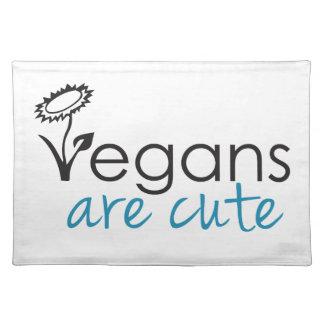 Vegans are Cute - An Advocates Custom Design Placemats
