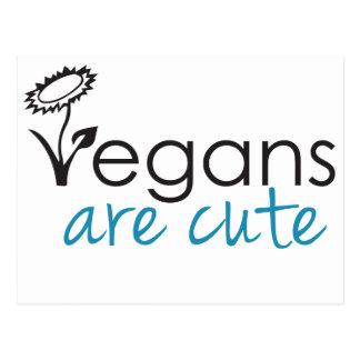 Vegans are Cute - An Advocates Custom Design Postcard