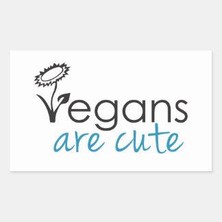 Vegans are Cute - An Advocates Custom Design Rectangular Sticker
