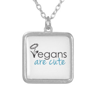 Vegans are Cute - An Advocates Custom Design Silver Plated Necklace