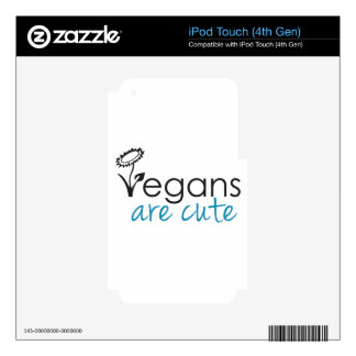 Vegans are Cute - An Advocates Custom Design Skins For iPod Touch 4G
