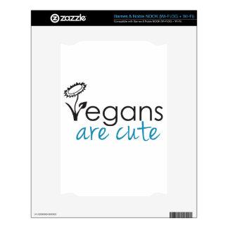 Vegans are Cute - An Advocates Custom Design Skin For NOOK