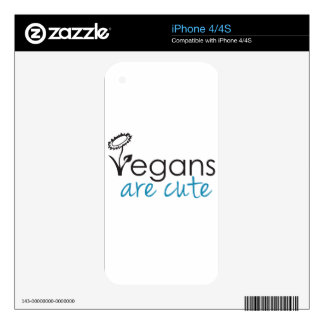 Vegans are Cute - An Advocates Custom Design Decals For The iPhone 4S