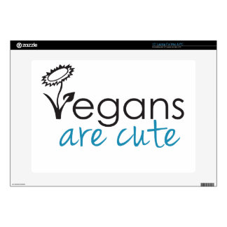 "Vegans are Cute - An Advocates Custom Design Skin For 15"" Laptop"