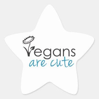Vegans are Cute - An Advocates Custom Design Star Sticker