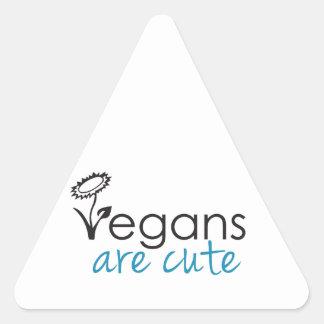 Vegans are Cute - An Advocates Custom Design Triangle Sticker