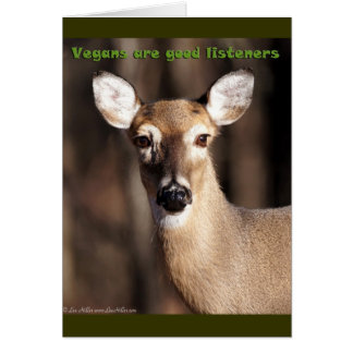 Vegans Are Good Listeners Gifts & Apparel Greeting Card