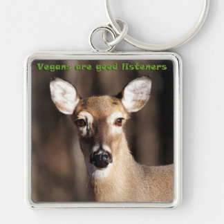Vegans Are Good Listeners Gifts & Apparel Keychain