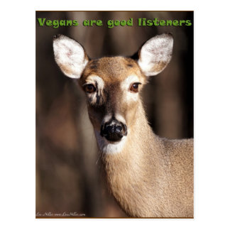 Vegans Are Good Listeners Gifts & Apparel Postcard