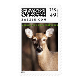 Vegans Are Good Listeners USPS Stamps
