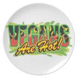 Vegans Are Hot Dinner Plate