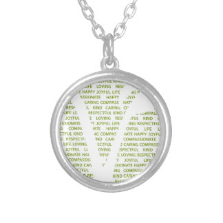 Vegans are round pendant necklace