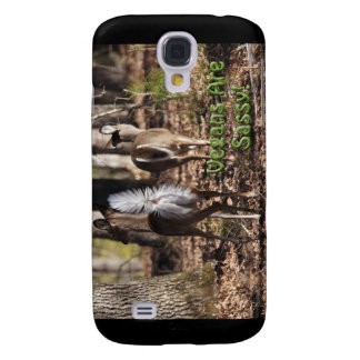 Vegans Are Sassy! Whitetail Deer Gifts & Apparel Galaxy S4 Case