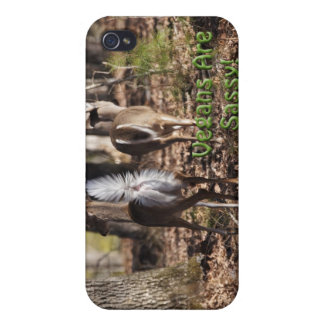 Vegans Are Sassy! Whitetail Deer Gifts & Apparel iPhone 4 Case