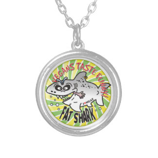 Vegans Fat Shark Personalized Necklace