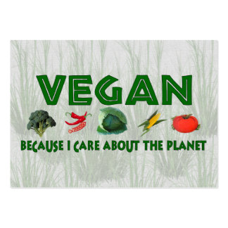 Vegans for the Planet Large Business Cards (Pack Of 100)