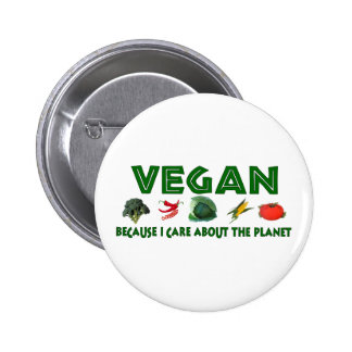 Vegans For The Planet Pinback Button