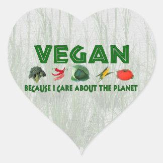 Vegans for the Planet Heart Sticker
