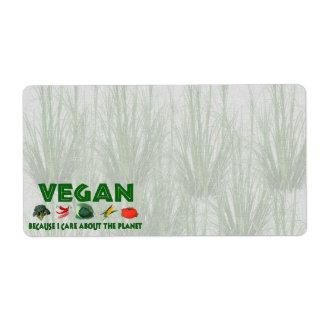 Vegans for the Planet Label