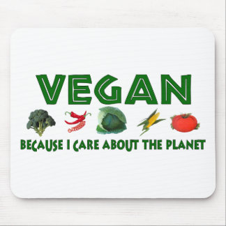 Vegans For The Planet Mouse Pad