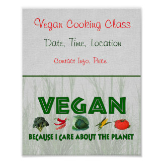 Vegans for the Planet Poster