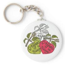 Vegans In Training Products Keychain