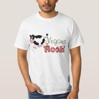 Vegans Rock! (cute farm cow) T Shirt