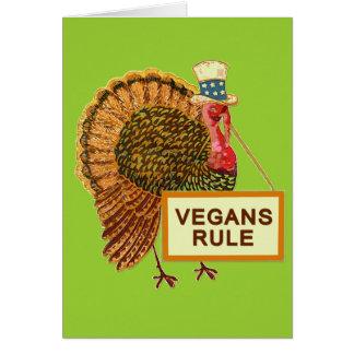 Vegans Rule Turkey Humor for Thanksgiving Greeting Card